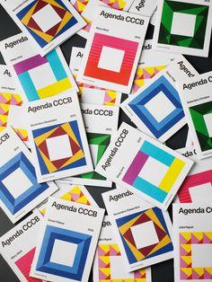 Agenda CCCB #hey #geometric #publication #cover #studio #colour #editorial