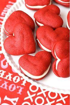 una receta dulce de San Valentín: redvelvet whoopies