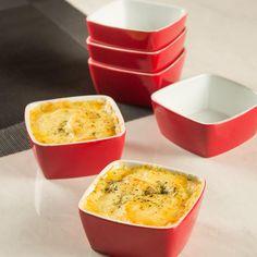 Conjunto de Tigelas em Cerâmica 10cm 6 Peças Vermelho - La Cuisine