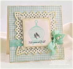 card designed by Debbie Olson using JustRite Spread Your Wings