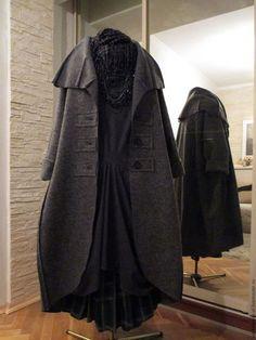 Верхняя одежда ручной работы. Ярмарка Мастеров - ручная работа. Купить пальто СЕРОЕ БОХО. Handmade. Темно-серый Duster Coat, Shabby Chic, Boho, Jackets, Clothes, Style, Dark Grey, Fashion Ideas, Felt