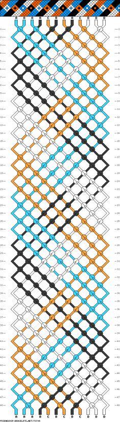 http://friendship-bracelets.net/patterns2.php