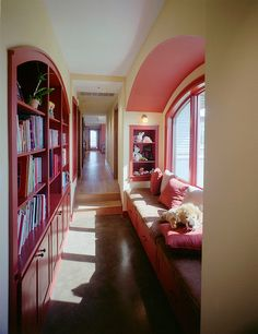 little girls' dream hall with books and seating♥♥♥