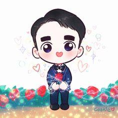 쿠키🍪 (@yooocookie) | Twitter Kyungsoo, Kaisoo, Exo Stickers, Exo Fan Art, Kpop Fanart, All Art, Chibi, Kawaii, Cartoon