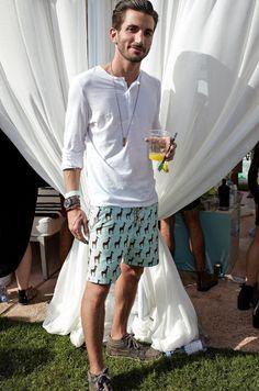 coachella mens fashion print shorts