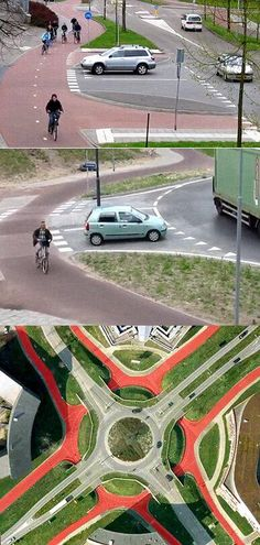 Stills from a superb 5-minute video explaining the full array of bike-friendly Dutch junctions, including roundabouts, overpasses and underpasses, Click image to Tweet and link to video. For more smart urbanism visit the Slow Ottawa 'Streets for Everyone' Pinterest board, and please repin to make a difference.