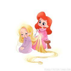 Me brushing your hair!