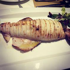 Calamar de potera a la plancha, restaurante Sansano'S de Elche