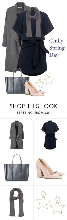 """""""Chilly Spring Day"""" by ladygroovenyc ❤ liked on Polyvore featuring Miss Selfridge, 10 Crosby Derek Lam, Lanvin, Dee Keller, Wooden Ships, ootd, shirtdress, DusterCoat and Spring2017"""