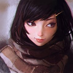 Little Thoughts, Ilya Kuvshinov on ArtStation at http://www.artstation.com/artwork/little-thoughts