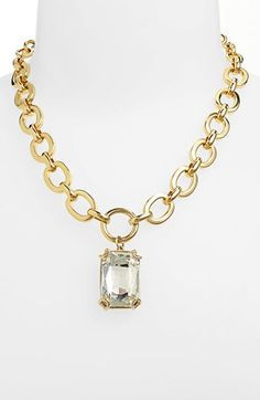 Nordstrom Rectangular Stone Pendant Chain Necklace available at #Nordstrom