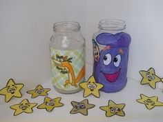 """potty training game with dora - everytime she goes, she gets to put a star in the """"backpack"""" jar. For every accident, """"swiper"""" gets to take a star out. Genius. This is a method that just may work!"""