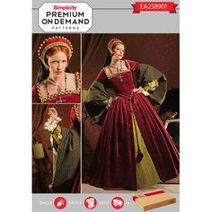 Misses' costume pattern. Once selected, we custom print pattern &…