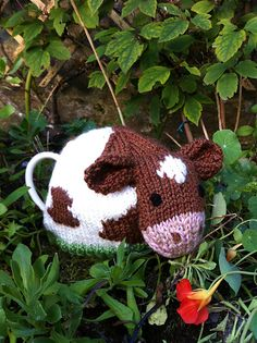 Elizabeth Lihou's Guernsey cow tea cosy - lots more at 26 Cornet Street, National Trust of Guernsey's shop!