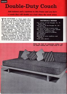 1961 DIY Daybed