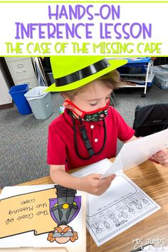 Inference lesson where students become inference detectives to solve the Case of the Missing Cape! Engaging and SO MUCH FUN for K-1!