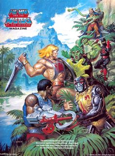 80s Masters of the Universe poster artwork by Earl Norem