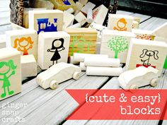 Ginger Snap Crafts: DIY {cute & easy} blocks {tutorial} - cut the vinyl with your Silhouette