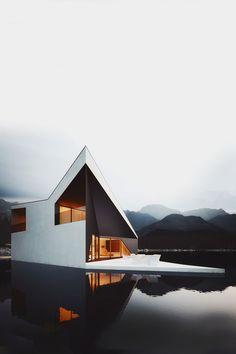 Outstanding modern, luxury house! #modernarchitecture #luxurydesign #moderndesign www.iGenie.nyc
