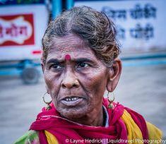 old woman Varanasi, India
