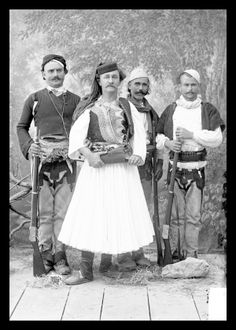 I purchased the copy rights to a number of historic Marubi portraits when we lived in Albania. They portray such dignified people proudly show beautiful native costumes. Albanian Culture, Muslim Culture, Folk Costume, Costumes, Albanian People, Historical Pictures, Men Looks, Looks Great, The Past