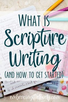 What is Scripture Writing and How to Get Started with Embracing the Lovely What is Scripture Writing and How Can you get Started? Join Embracing the Lovey and Grow Your Creative Faith with Scripture Writing! Daily Scripture, Scripture Study, Bible Scriptures, Bible Art, Scripture Journal, Scripture Reading, Bible Quotes, Quotes Quotes, Faith Quotes
