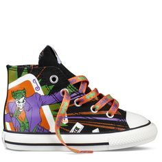 Joker Chuck Taylor (Kid 1-3 yr) ~ omg these are beyond amazing