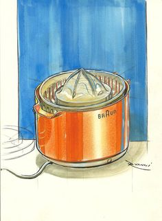 Braun Juicer, watercolor media.