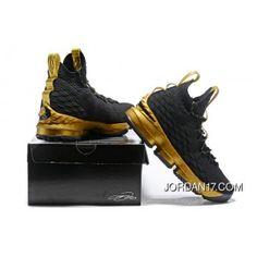 a3ae0ca0581 LeBron James Nike LeBron 15 Mens Basketball Shoes Black Gold NBA Finals  Game 4 Copuon