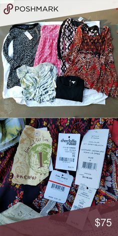 Size XS Dress Bundle 6 item size XS bundle. ~~~~~ -1 long sleeve sweater dress (NWT) -1 long sleeve dress (NWT) -2 3/4 sleeve dresses (1 is NWT) -1 strapless dress -1 maxi dress (NWT)  ~~~~~ Brands include: One World, French Connection, GAP, Maxx Jeans, Charlotte Russe  ~~~~~ To see more info/pictures for each item, please check individual item listings on my page. I can make any bundle for you, so if you would like to make a custom bundle please comment below. French Connection Dresses