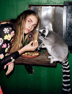 cara delevigne for i-D magazine, fall / winter 2012 / 2013  HER DATE WITH KING JULIEN