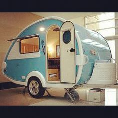 Another groovy tear drop camper