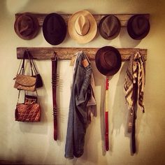 Decorative Hat Rack Ideas You Will Ever Need diy hat rack cowboy hat rack baseball hat rack hat rack ideas wall hat rack hat rack standing hat display Wall Hat Racks, Diy Hat Rack, Hat Hanger, Hanger Rack, Hat Storage, Closet Storage, Baseball Hat Racks, Baseball Caps, Cowboy Hat Rack