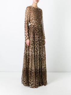 Dolce & Gabbana leopard print long dress