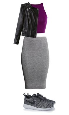 """Tricky Trend: Pencil Skirts & Sneakers"" by music-lover16 ❤ liked on Polyvore featuring H&M and NIKE"