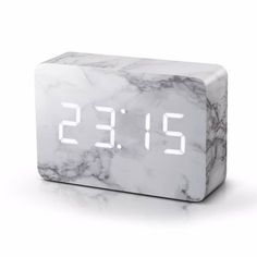 Brick Marble Clock | Gingko Electronics | Wolf & Badger