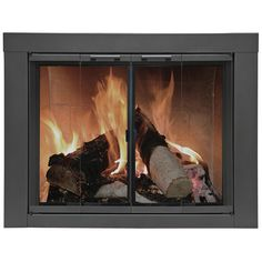 Carson Fireplace Glass Door - Vintage Iron   WoodlandDirect.com: Fireplace Doors, Residential Retreat
