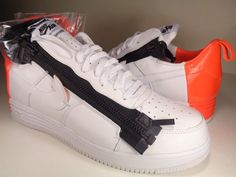 Nike Air Force 1 SP / Acronym SP White Bright Crimson Rare SZ 13 (698699-116)…