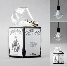 diamond light bulb! buy here: http://erictherner.yokaboo.com/category/lighting/diamond-lights/ #light #decorate