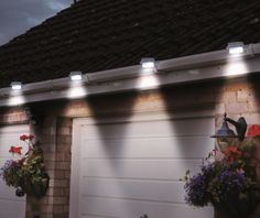 Solar Gutter Light Clip-on Fence Outdoor Garden Yard Pathway Lamp White - hihi online