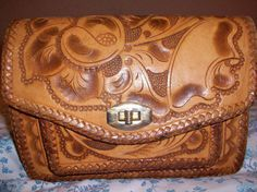 Hand Tooled Leather Mexican Mexico Artisan by SequinedMermaid, $25.00