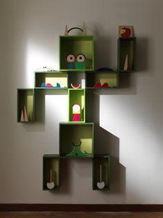 shelves like whatever the room's theme is!
