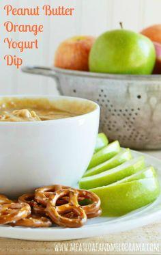 Peanut Butter Orange Yogurt Dip