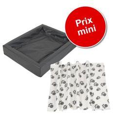d2b38f760f15 Lot   panier hygiénique, granit + couverture polaire Pawty pour chien.  zooplus