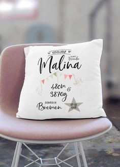 Name pillow rabbit with pennant chain for girls. Pillow with name and date of birth Name pillow rabbit with pennant chain for girls. Pillow with name and date of birth Cool Baby, Bff, Birth Gift, Baby Pillows, Nursery Bedding, Personalized Products, Girl Shower, Girl Names, Gifts For Girls
