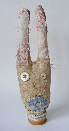 bunny pin cushion by hens teeth, via Flickr