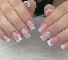 Gel Uv Nails, French Manicure Nails, Manicure E Pedicure, Elegant Nails, Stylish Nails, Trendy Nails, Cute Nails, Acrylic Nails Coffin Pink, Simple Acrylic Nails
