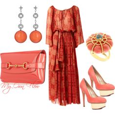 """""""CORAL FLOW"""" by myownflow on Polyvore"""