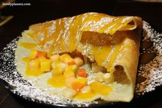 Crepe C&C, composed of fruit salad, vanilla ice cream and tangy mango sauce @Crêpes & Co. Langsuan, Bangkok