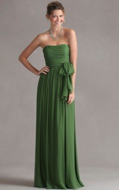 Stylish Natural Strapless A-line Bridesmaid Dresses